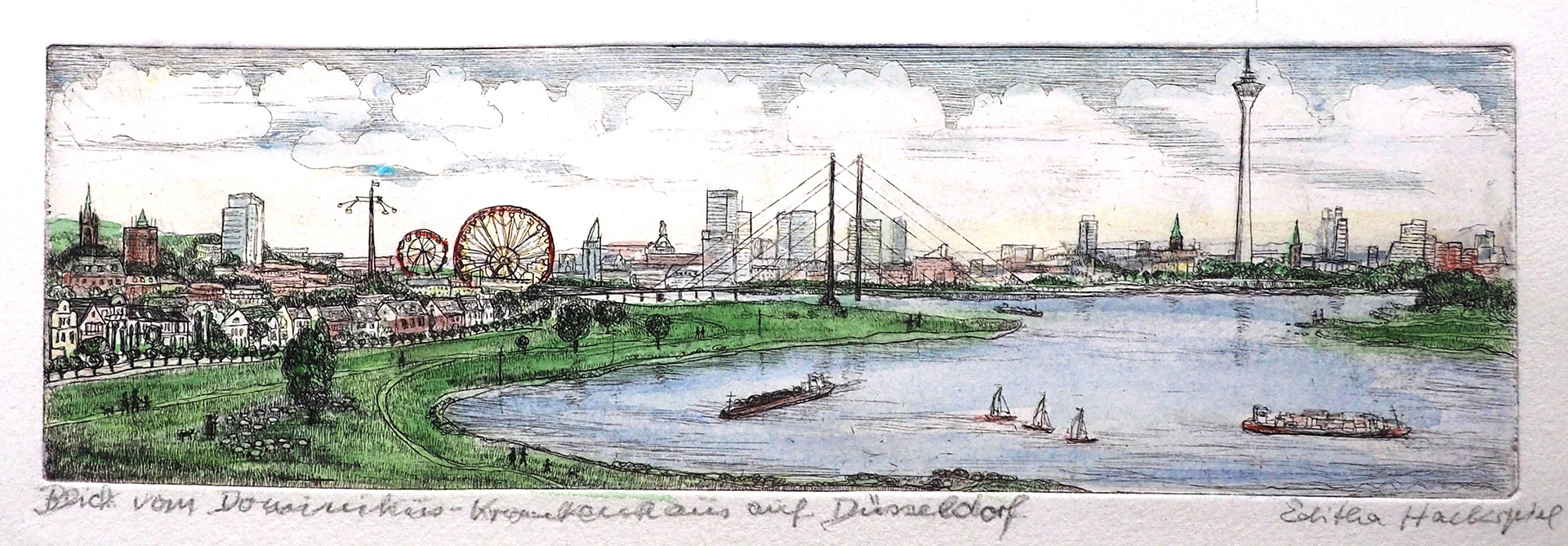 Editha Hackspiel: Düsseldorf, das Rheinknie