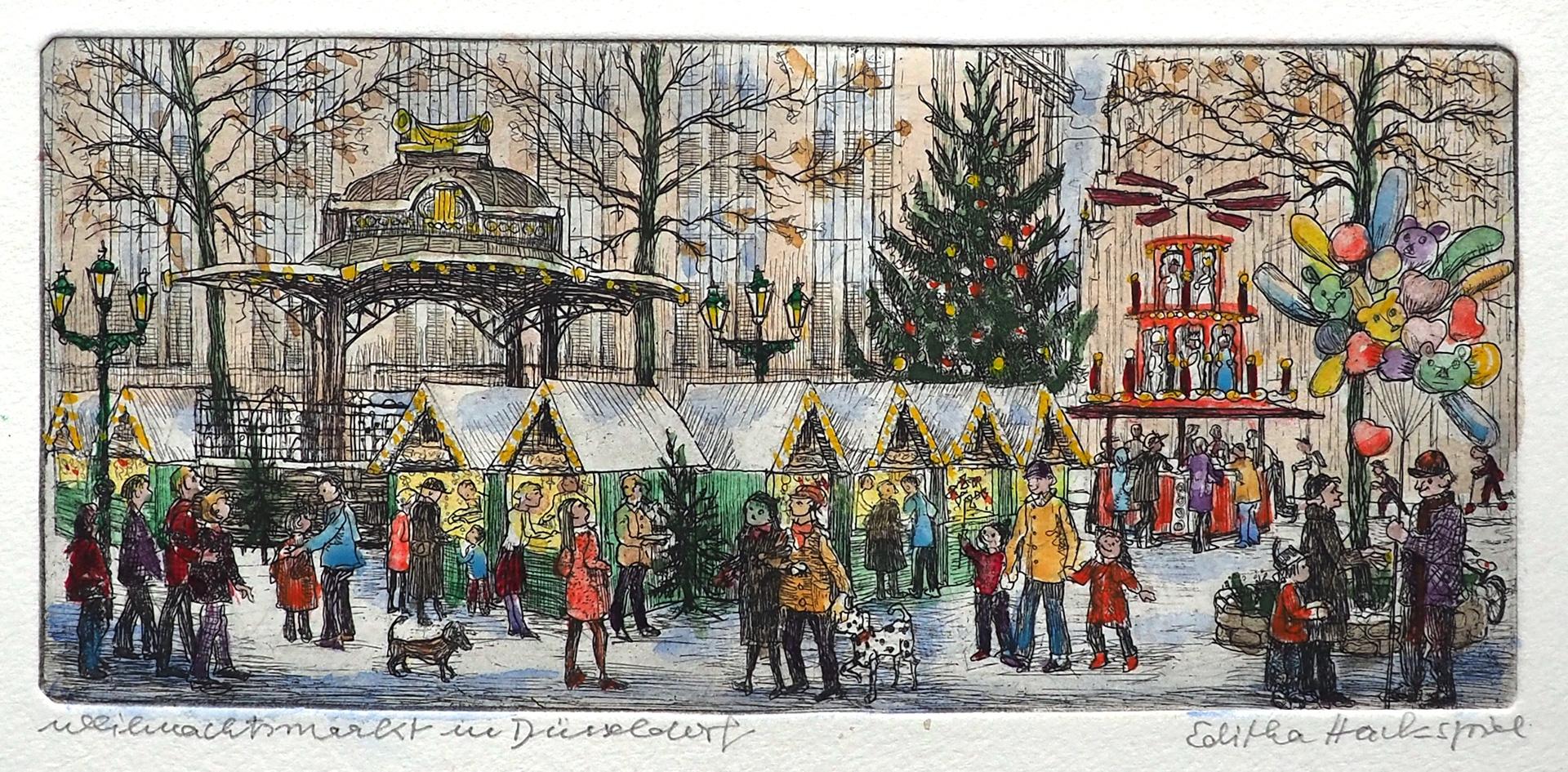 Editha Hackspiel: Weihnachtsmarkt in Düsseldorf