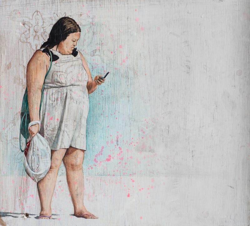 Heike Kleffmann: Frau am Wasser