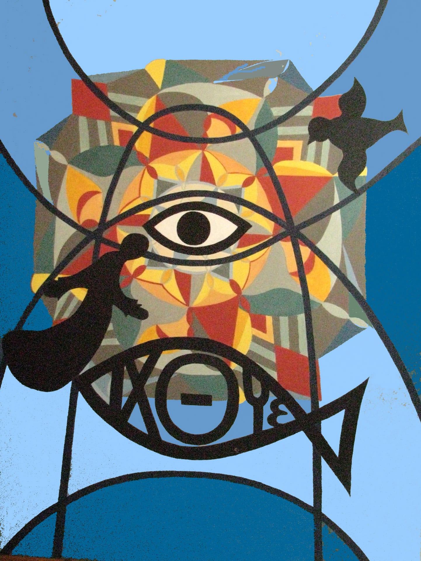 Ilse Petry-Ambrosius: Das Auge Gottes (Acryl auf Leinwand, 70x90 cm)