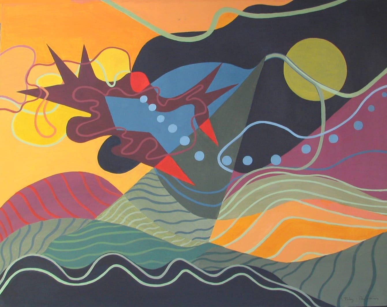 Ilse Petry-Ambrosius: Impressionen (Acryl auf Leinwand, 70x90 cm)