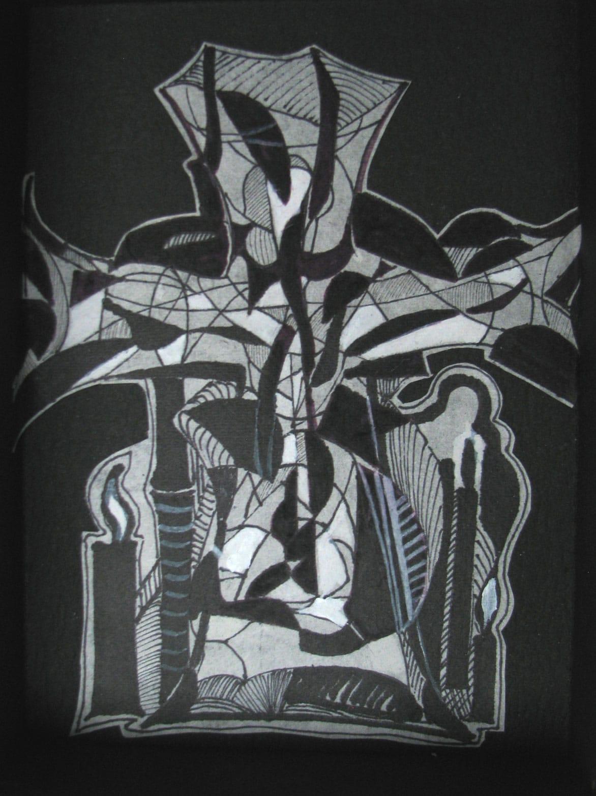 Ilse Petry-Ambrosius: Kreuz (Entwurf für Kirchenfenster)