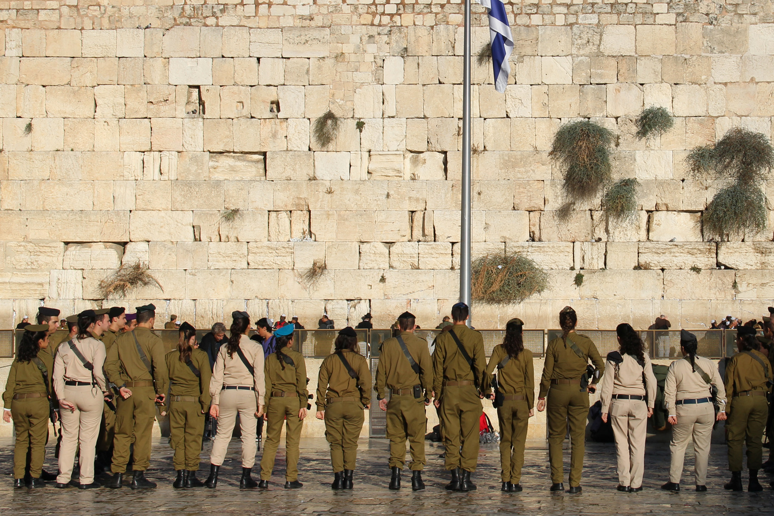 Western Wall: Soldiers
